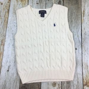 Polo Ralph Lauren Ivory Cable-Knit Sweater Vest 4T
